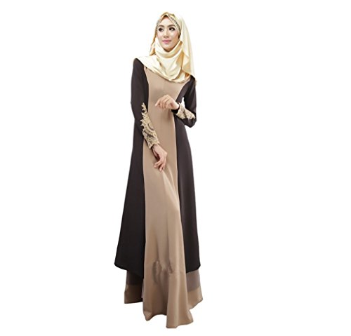 Dreamskull Muslim Abaya Dubai Muslimisch Islamisch Arabisch Indien Türkisch Casual Abendkleid...