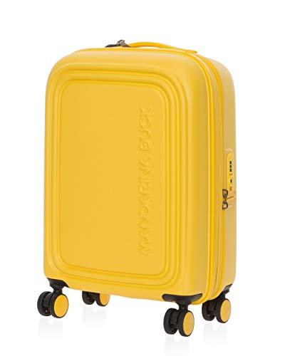 Mandarina Duck Logo Duck Expandable Hardside Spinner Luggage - TSA Lock, 22-Inch, Carry-On