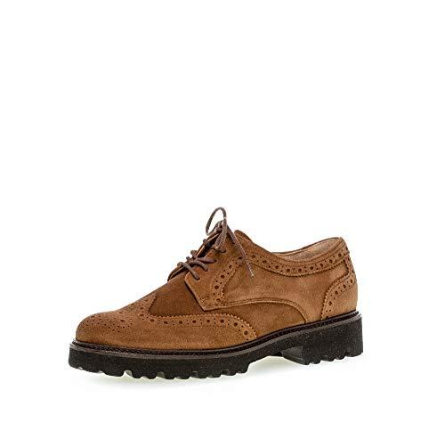 Gabor Damen Schnürhalbschuhe, Frauen Businessschuh,Best Fitting, Shoes Low-tie Arbeitsschuhe Anzugschuhe Business Arbeit,New Whisky,38.5 EU / 5.5 UK