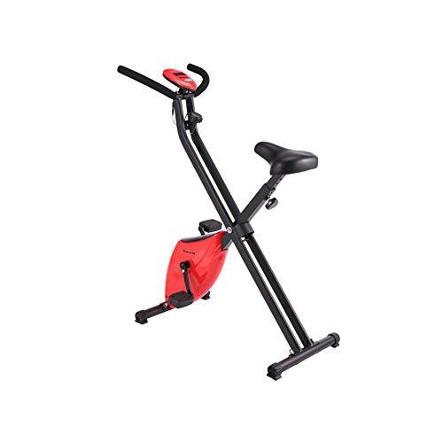 Zzxxo F-Bike/F-Rider Basics, Fahrradtrainer, Heimtrainer, Fitnessfahrrad Mit Trainingscomputer,Rot