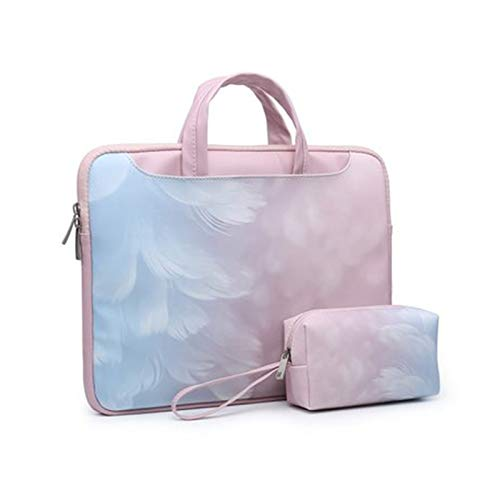 GYY Laptop-Schultertasche Für Huawei MateBook 13 Ehre Magicbook 14 X Pro 13.9 16.1 MateBook E D 14 15 Fallhülle Frauen Handtasche (Color : Feather Set, Size : Honor Magicbook 14)