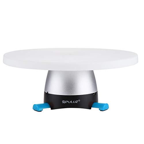FEGGBHE Profesional Bandeja - electrónico rotación de 360 Grados panorámica Cabeza del trípode + Redonda con Control Remoto for teléfonos Inteligentes, GoPro, cámaras DSLR (Azul) (Color : Blue)