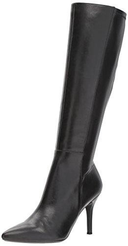 NINE WEST Women's Fallon, Black Leather, 10.5
