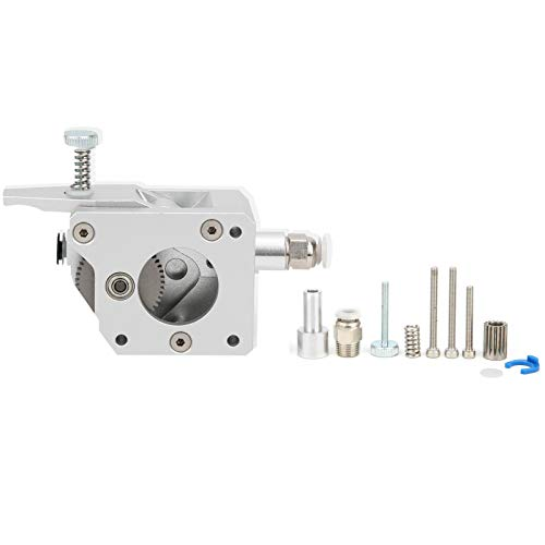 1.75mm Consumable Dual Drive Gear Extruder,Full Metal Body,for 3D Printer,Silver,Hardened Steel,for Most 3D Printers(Right hand)