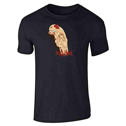 Pop Threads Chestburster Horror Alien Halloween Costume Black L Graphic Tee T-Shirt for Men