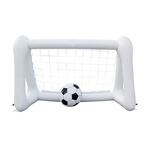 YeahiBaby Aufblasbares Pool Tor Fußballtor Wasserballtor Spielzeug für Kinder Indoor Outdoor (weiß)
