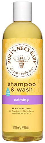Burt's Bees Baby Shampoo & Wash, Calming Tear Free Baby Soap - 12 Ounce Bottle