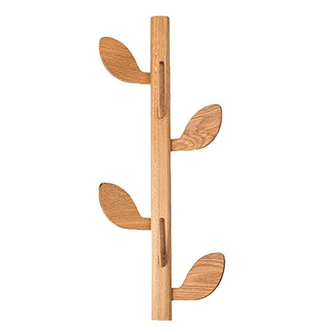 見捨てられた市長共産主義者壁コートハンガー マルチフックハンガー 多機能木製リーフスタンド (Color : Wood color, Size : 58*20*40cm)