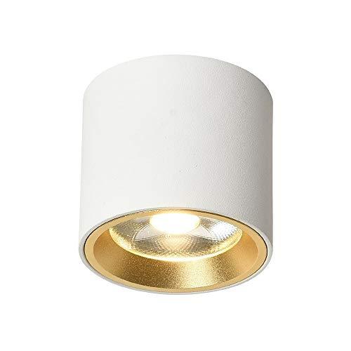 Mini proyector del techo de aluminio blanco Panel rejilla alta luz de techo luces COB nórdica europea Moda Lámparas de techo adosables Embedded Integrado accesorio iluminación de escaparate comercial
