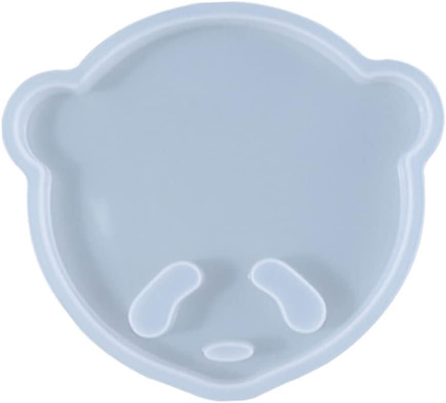 Zashi Creative Panda safety Face Coaster Epoxy Sto Mat Cup Resin Mold Factory outlet -