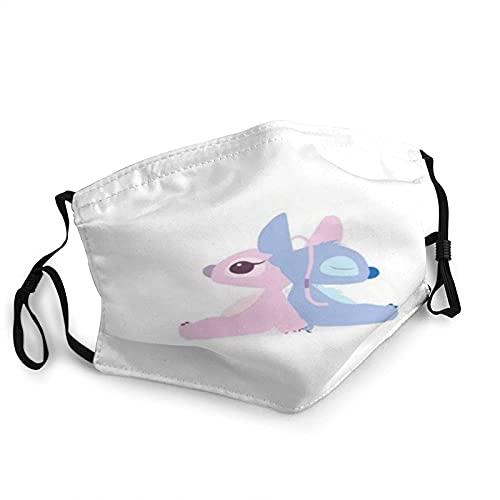 CDKZ Stitch - Máscara de borde negro para adultos, protección facial portátil, pasamontañas deportivas