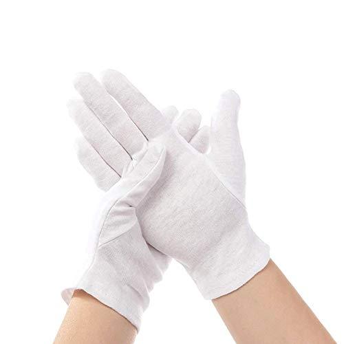 12 Paar weiße Handschuhe Baumwolle,baumwollhandschuhe Arbeitshandschuhe,Cotton Gloves,stoffhandschuhe,weiße Handschuhe für tägliche Arbeit,Handschuhe für hautpflege