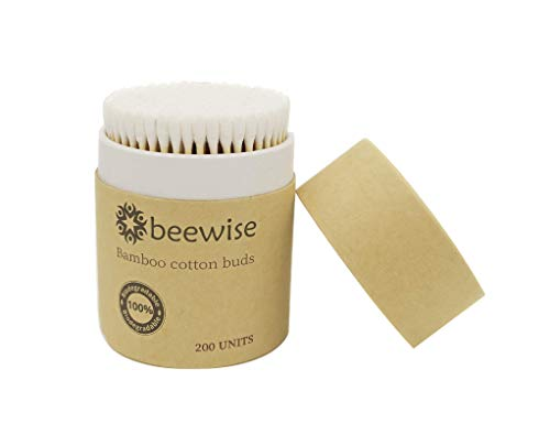 Beewise | Bamboo Cotton Buds | Plastic-free Product & Packaging | 100% Biodegradable Cotton Swabs | 200 units