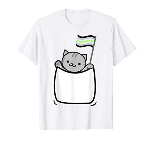 Agender Pride Flag Cat Shirt