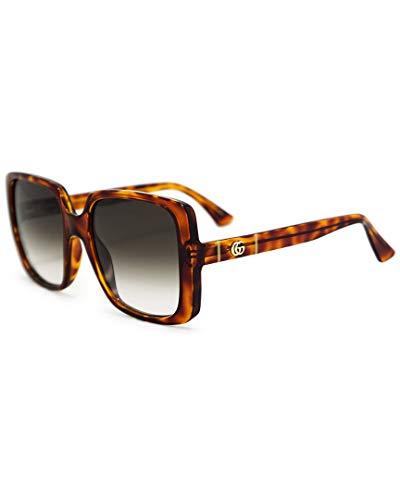 Gucci Occhiali da Sole GG0632S HAVANA/BROWN SHADED 56/20/145 donna