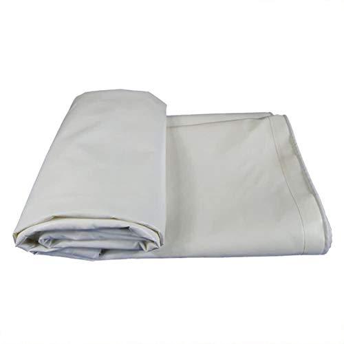 YUEDAI A Prueba de Lluvia Lona Lona Tierra Sheet Covers Carpa Toldo cobertizo de Tela Protección Solar Reforzada, múltiples tamaños, 500G / M² (Color : White, Size : 6x8m)