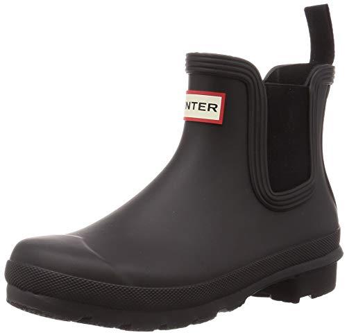Hunter Chelsea botas tobilleras originales para mujer, ajuste mejorado, Negro (Negro), 37 EU
