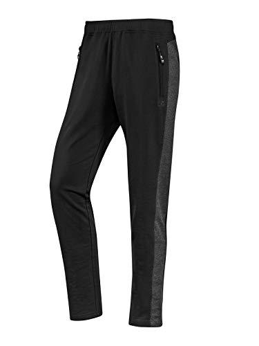 Joy Sportswear Fernando Freizeithose für Herren mit Zwei praktischen Reißverschluss-Taschen, Lange Hose mit komfortablem Bund mit Innenkordel Kurzgröße, 24, Black