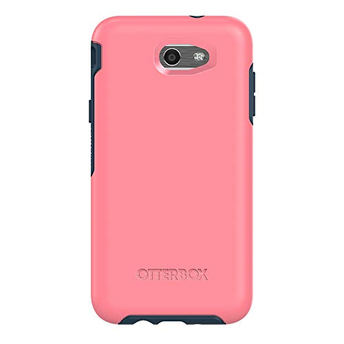 OtterBox SYMMETRY SERIES Case for Samsung Galaxy Express Prime 2/Amp Prime 2/Sol 2/J3 Emerge/J3 Prime/J3 Luna Pro; Samsung Galaxy J7 V/Samsung Galaxy J7 (2017)/Samsung Galaxy J7 Perx - Retail Packaging - SALTWATER TAFFY (PIPELINE PINK/BLAZER BLUE)