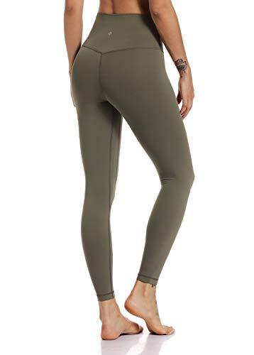 Hawthorn Athletic pantalones de yoga de cintura alta Essential para mujer, tobillo activo, legging-25 pulgadas - Verde - Small