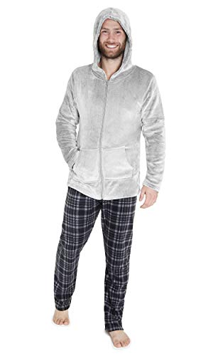 CityComfort Pijama Hombre, Pijama Hombre Invierno Forro Polar, Ropa de Dormir Super Suave, Pantalon...