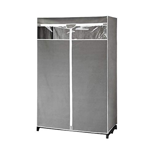 Type A Garment Rack & Clear Cover | Closet Organizer with Non-Woven Fabric & Protective Cover with...