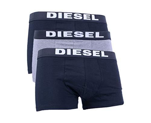 Diesel UMBX Rocco Herren Boxershorts, Grau, 3 Stück Gr. L, grau