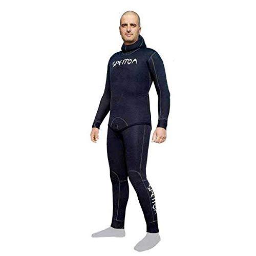 Spetton Fishman Pro & Cell Plus II Traje de Buceo, Hombre, Black, XL