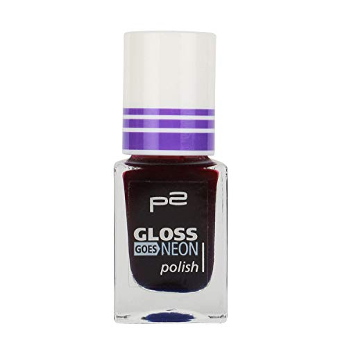 P2 Gloss goes NEON polish Nr. 060 carousel Inhalt: 10ml Nail Polish Top Coat Effekt Lack für trendy Nails
