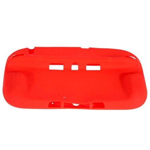 Livoty Silicone Rubber Skin Case Protective Cover for Wii U Gamepad Wireless Controller (red)