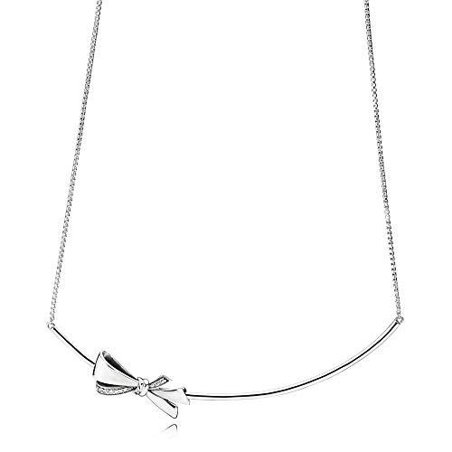 Pandora Stories Brilliant Bow Damen Halskette 925 Sterlingsilber 50 cm