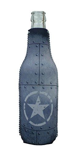 1023139 - Neopren Flaschenkühler Army Star Rivets Grau