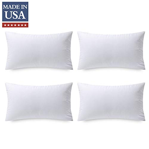 Phantoscope 18 x 18 Pillow Inserts, Set of 4 Hypoallergenic Square Form Decorative Throw Pillow Couch Sham Cushion Stuffer - 18 inches