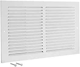 EZ-FLO 61643 (H), White Steel Sidewall and Ceiling Return Air Filter Grille, 14 inch (W) x 8 inch (L), 14
