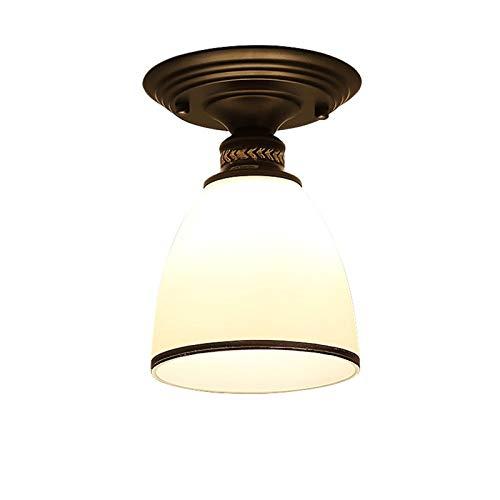 Luz de Techo de Montaje Semi, Accesorio de Luz de Vidrio Resistente a Alta Temperatura, Accesorio de Luz de la Granja para Comedor de Pasillo