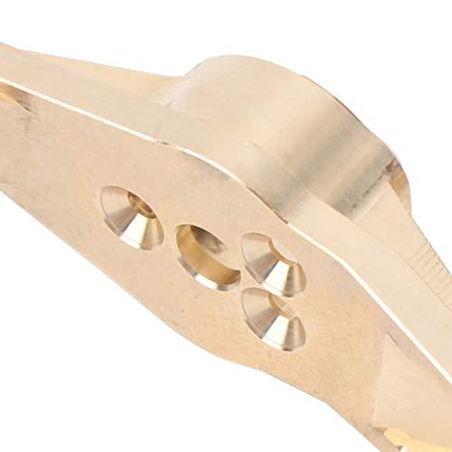 Alomejor 1 Paar Vorderradnabenträger Hochleistungs-Messing C-Nabenträger C Nabenlenker Achsschenkel RC Zubehör für Traxxas trx4 1/10 RC Gegengewichte