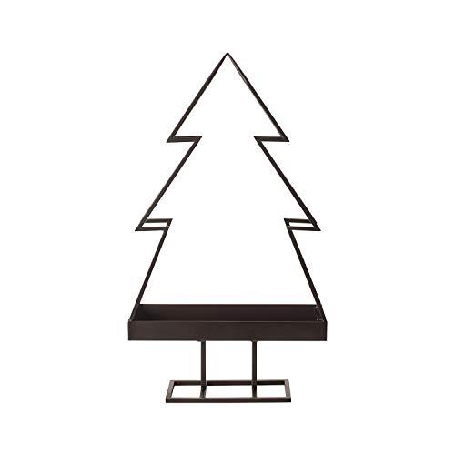 Villeroy & Boch Winter Bakery Metall Kerzentablett, purister Kerzenhalter im Weihnachtsbaum-Design, Metall, schwarz, 60 cm