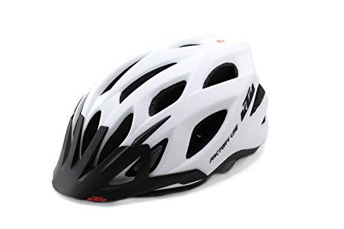 KTM Helm Fahrradhelm Unisex weiß/schwarz matt Factory Line, Helmgröße:58-62
