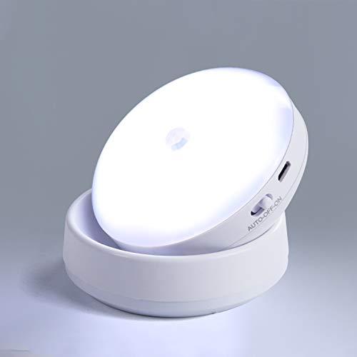 360 Rotating Luminous Motion Sensor with Magnetic Base, Induction White Intelligent Human Body Induction Light, Bathroom Cabinet Light, Cruise Ship Cabin
