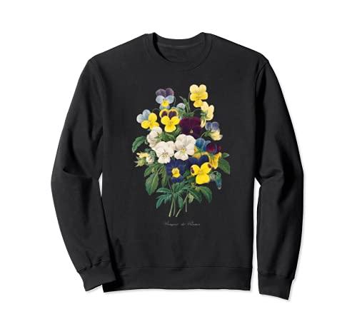 Pierre Joseph Redoute Pansy Pansies Pintura Jardinero de flores Sudadera