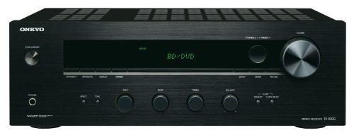 Onkyo TX-8020 (B) Stereo-Receiver (90 Watt, Direktmodus, 3-Digital/5-Analogeingänge, Phono, RDS UKW/MW-Tuner) schwarz