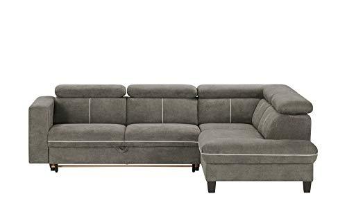 Trustycomfort Exotic lshape 4 Seater Fabric Grey Sofa Bed (LHS)