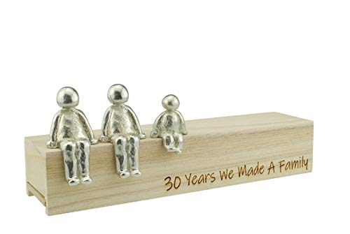 30th Anniversary Idea - 30 Years We Made A Family Metal Ornament - Choose Your Family Combination (1 Child)