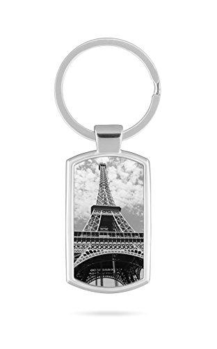 Schlüsselanhänger mit Gravur Wunschtext Name Frankreich Paris