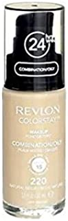 Revlon ColorStay Liquid Foundation Makeup for Combination/Oily Skin SPF 15, Longwear Medium-Full Coverage with Matte Finish, Natural Beige ((220), 1.0 oz