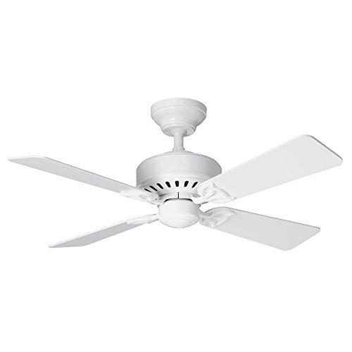 Hunter Fan Bayport Ventilador de techo, 58 W, Acero Inoxidable, 3 Velocidades, Blanco