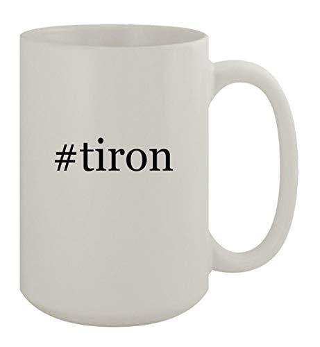 #tiron - 15oz Ceramic White Coffee Mug, White