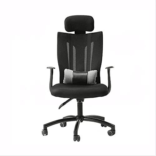 DJDLLZY Sedia da ufficio ergonomica per ufficio amministrativo in rete con schienale alto scrivania per computer regolabile Poggiatesta lombare supporto bracciolo rotolamento sedia da lavoro