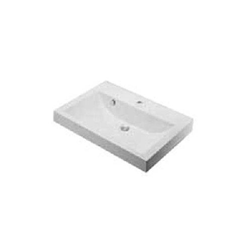 カクダイ コルポーゾ 角型洗面器 1ホール 493-070-750