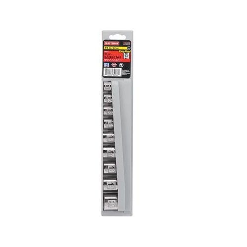 CRAFTSMAN Impact Socket Set, MM, Easy-to-Read, 3/8-Inch Drive, 9-Piece (934566)
